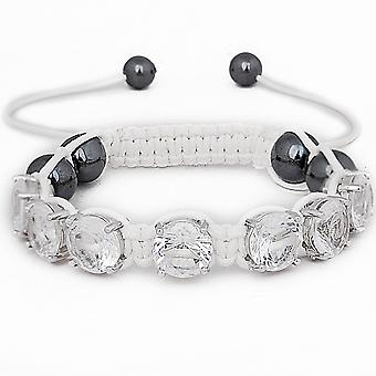 Iced Out Unisex Bracelet - PRONG Beads White