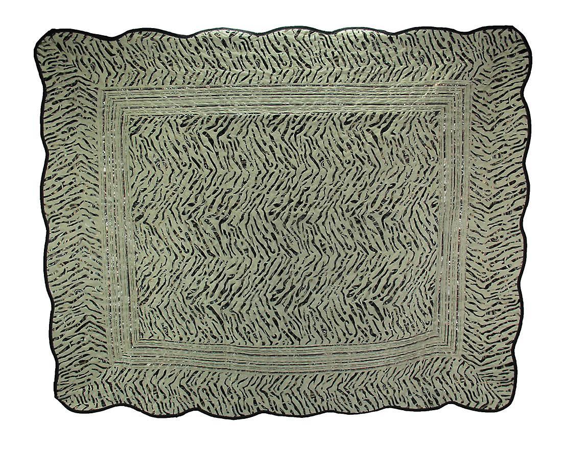 Weavers Black Wild 60 Zebra Striped Quilt 50 White Manual And X knwOX80P