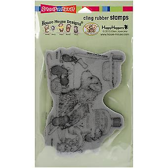 Stampendous House Mouse Cling Rubber Stamp 7.75