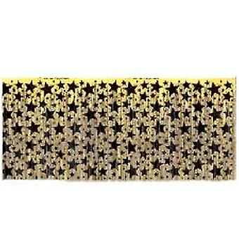 Black and Gold Star Table Skirting