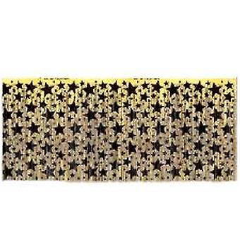 Negro y oro tabla estrella que bordea