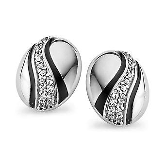 Orphelia sølv 925 ørering Diagonal bane Zirconium ZO-5095
