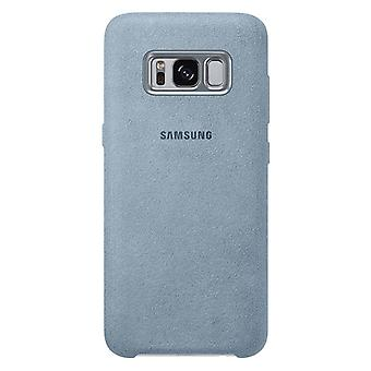 Samsung Alcantara cubierta EF XG955AM para Galaxy S8 + G955F caso menta