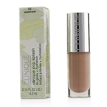 Clinique Pop Splash Lip Gloss + Hydration - # 02 Caramel Pop - 4.3ml/0.14oz