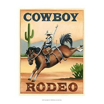 Cowboy Rodeo Poster Print by Ethan Harper (13 x 19)