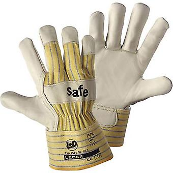Full-grain cowhide Protective glove Size (gloves): 10, XL EN 388 CAT II L+D worky SAFE 1571 1 pair
