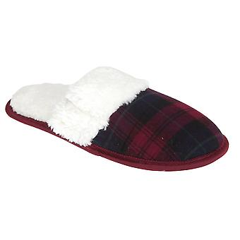 Slumberzzz Womens/Ladies Tartan Slippers