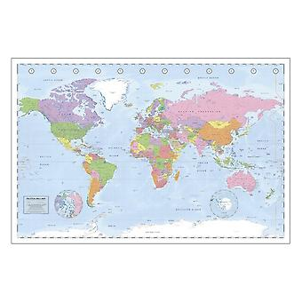 Political world map Miller projection XXL poster map of the world. English version. Giant poster