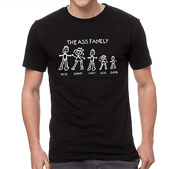 Humor The Family Graphic Men's Black T-shirt