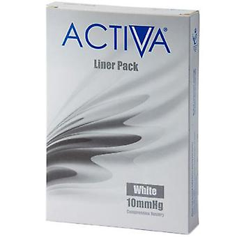 Activa Compression Tights Tights Liners White X-Lge 10Mmhg 3