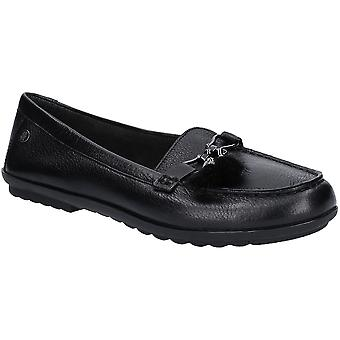 Hush Puppies Womens Aidi Puff Slip On Leather Loafer Shoes