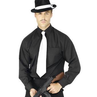 Bnov Gangster Krawatte weiß