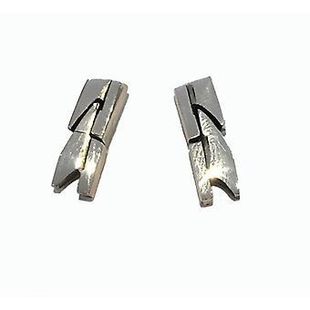 Cavendish French Sterling Silver Laurel Wreath Earrings