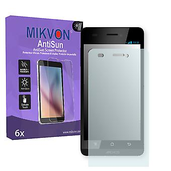 Archos 45 Helium 4G Screen Protector - Mikvon AntiSun (Retail Package with accessories)