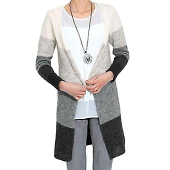 AMY VERMONT of cuddly ladies knit jacket grey