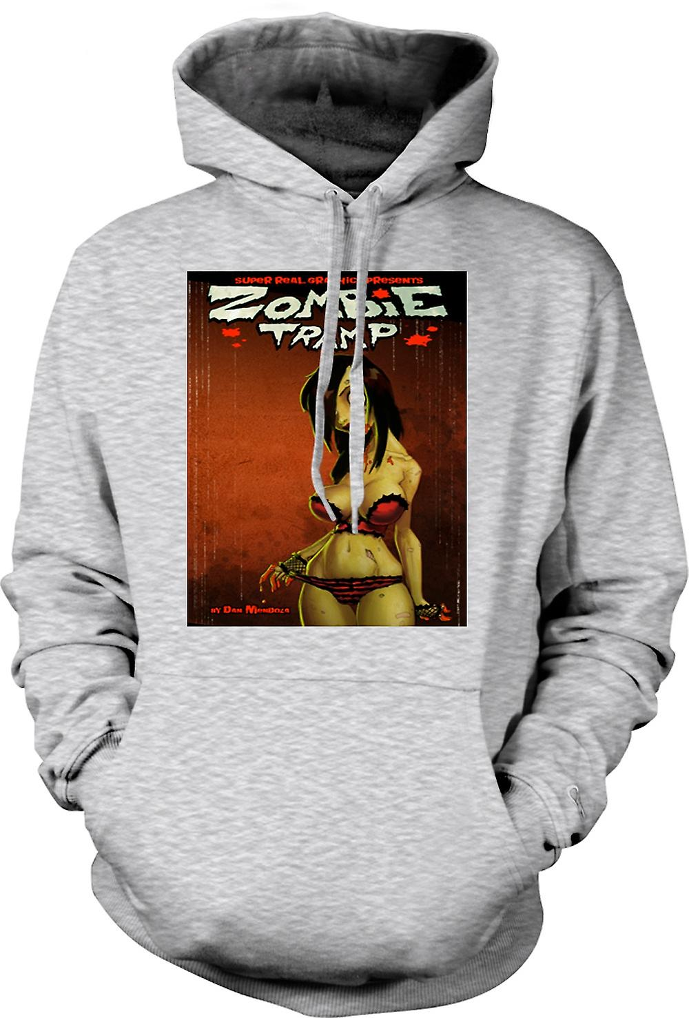 Mens Hoodie - Zombie Tramp - Undead - Pin-Up