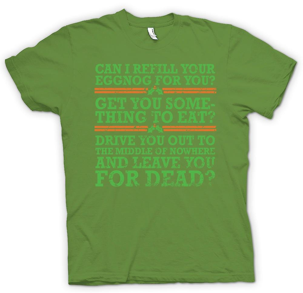 Mens T-shirt - Can I Refil Your Eggnog For You - Funny Christmas