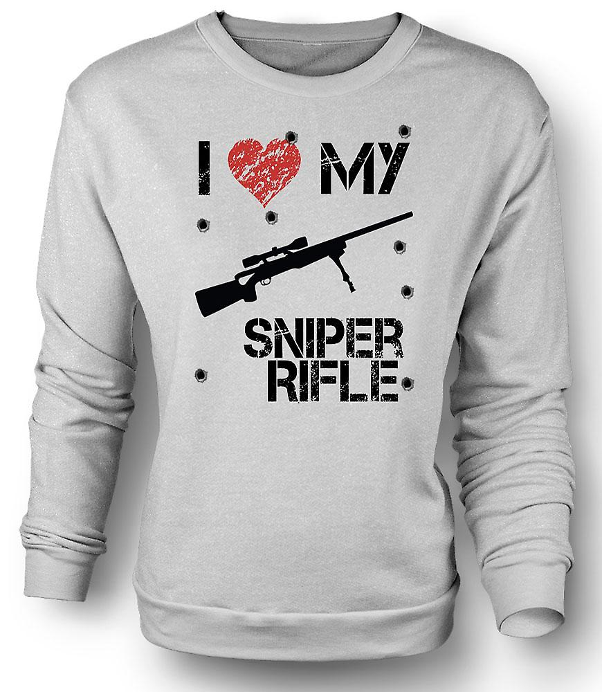 Mens Sweatshirt I Love My Sniper Rifle