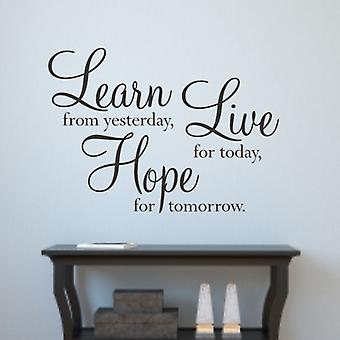 Hope wall quote decal sticker