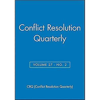 Konfliktlösning kvartalsvis: 27 (J-B MQ enda fråga medling kvartalsvis)