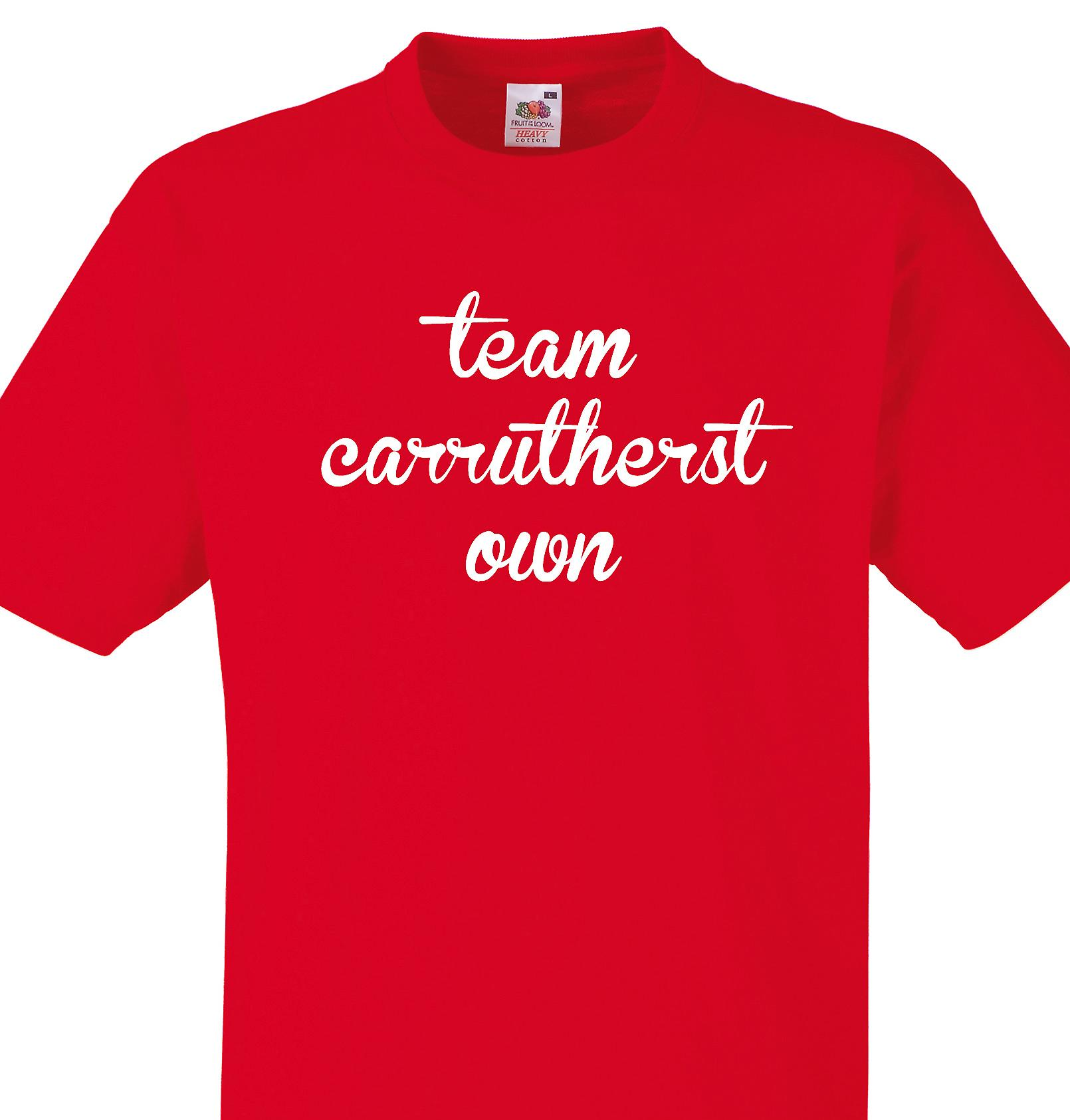 Team Carrutherstown Red T shirt
