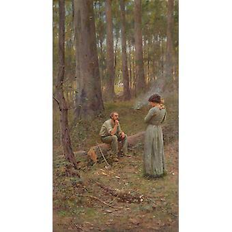 The pioneer,Frederick Mccubbin,80x43.6cm