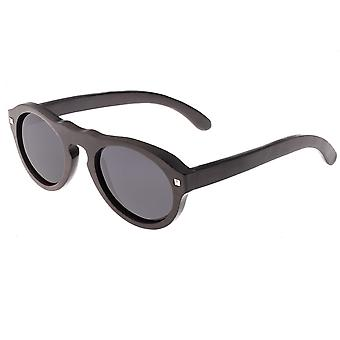 Erde Holz Sonnenuntergang polarisierte Sonnenbrille - Espresso/schwarz