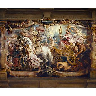 Triumph of Curch over Fury,Discord,Peter Paul Rubens,50x40cm