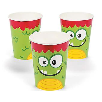 8 Mini Monster Paper Party Cups | Kids Party Cups
