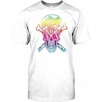 Diamant-mexikanischen Sugar Skull - Hip Hop-T-Shirt für Herren