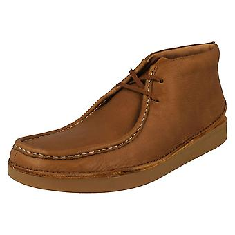 Mens Clarks Formal Lace Up Ankle Boots Oakland Mid