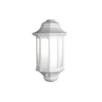 Modern Outdoor White Security Wall Light with PIR Sensor IP45