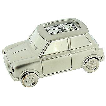 Miniature Chrome Plated Solid Brass Motor Car Novelty Collectors Clock IMP67S