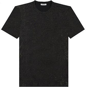 Versace collection or clouté T-shirt noir