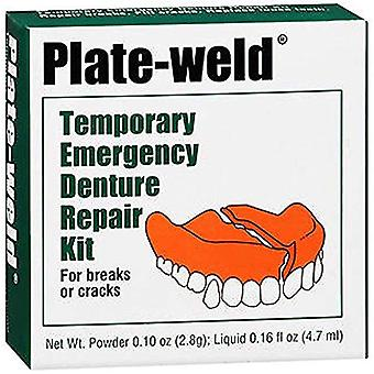 Plate-weld temporary emergency denture repair kit, 1 ea
