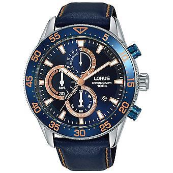 Mer från Lorus | Mens kronograf | Blå bezel | Blått läder | Blå urtavla | RM341FX9 klocka