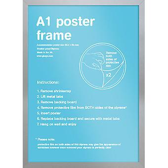 Eton sølv ramme A1 plakat / Print stel