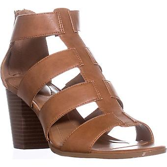 Style & Co. SC35 Janinaa Gladiator Rear Zip Sandals, Coffee, 5 US