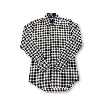 Circle of Gentlemen 'Geoffrey' shirt in grey and white check