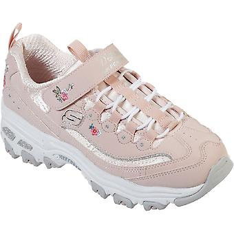 Skechers Girls D'Lites-Lil Blossom Embroidery Athletic Shoes
