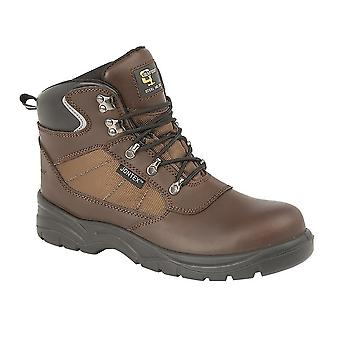 Grafters Mens Action Laced Leather Hiking Boot