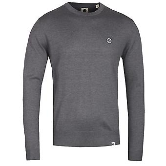 Pretty Green Crew Neck Grey Knitted Sweater