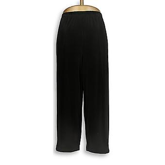 Joan Rivers Classics Collection Women's Petite Pants LP Jersey Black A303837