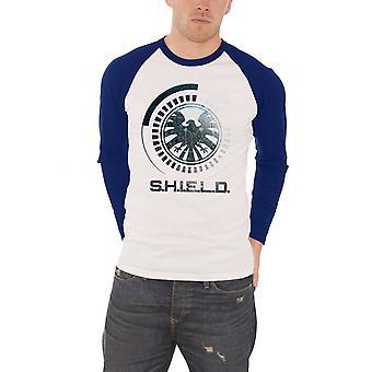 Агенты щит рубашку Marvel Comics S.H.I.E.L.D гребень официальный Mens бейсбол