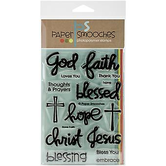 Paper Smooches 4 « X 6 » Clear Stamps-avoir foi FBS238