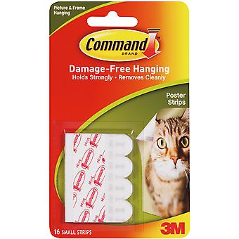 Command Poster Strips with Adhesive 12 Pkg White 17024