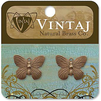 Vintaj Metal Charms 2 Pkg Butterfly 19X15mm Dp150r