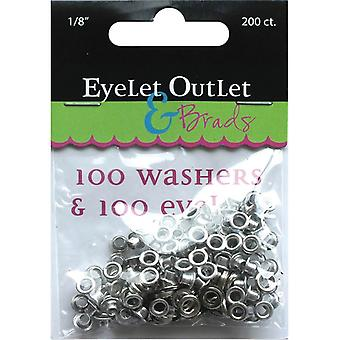 Eyelet Outlet Eyelets & Washers 1 8