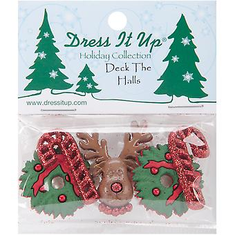 Dress It Up Holiday Embellishments Deck The Halls Diuhlday 266