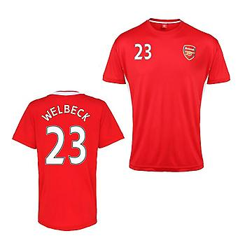 Official Arsenal Training T-Shirt (Red) (Welbeck 23)